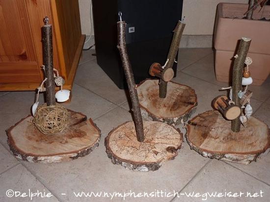 Holzscheiben Schaukel